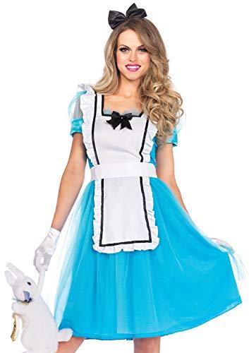 Leg Avenue 85374 - Costume classico per travestimento da Alice nel Paese delle Meraviglie, Donna, XL