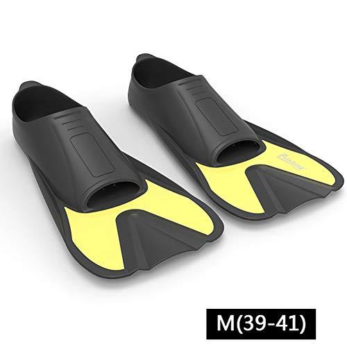 RF-Flippers Flossen Flossen Kurz Schwimmend Ausbildung Schwimmflossen Erwachsene PRT Reiseflossen Zum Tauchen Schwimmen Tauchen Schnorcheln Und Wassersport (Size : M)