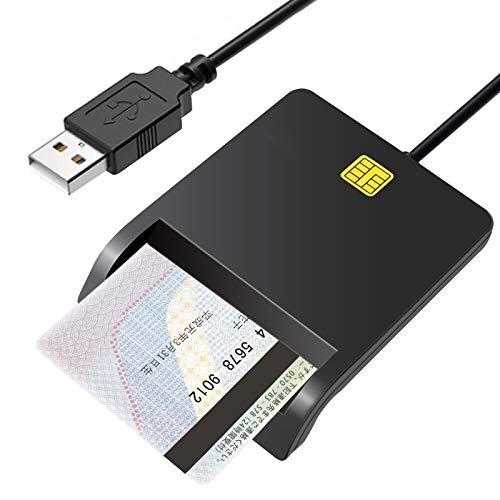 【2021最新版】ROTEK 接触型ICカードリーダライタ ICチップ付きのマイナンバーカード 住基カード 公的個人認証サービス 納税システム「e-Tax」や国税電子申告などに対応 自宅で簡単パソコンで確定申告 USB接続 住基カード/個人番号カード/マイナンバーカードに対応 、CAC/SIMスマートカードリーダーにも対応でき
