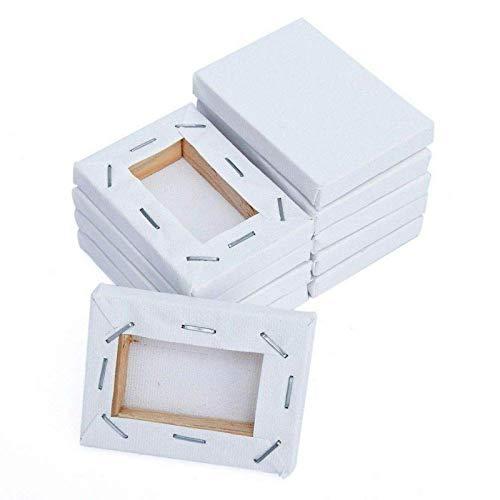 RENSHENKTO Mini lienzo de la lona del panel estirado tableros de pintura cuadrados pequeños tablero del arte 10pack