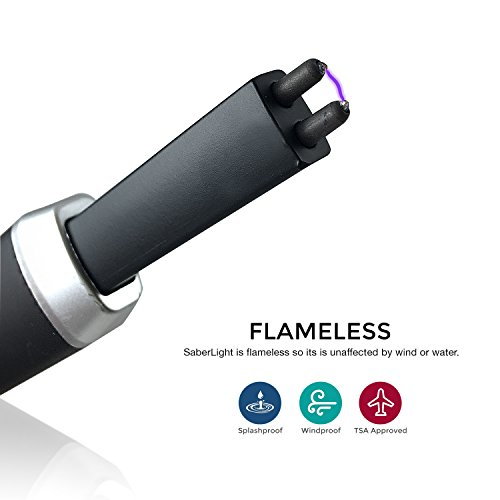 Saberlight Extended Arc Lighter - Rechargeable Long Neck Plasma Arc Lighter - Grill Lighter - Flameless - Butane Free - Rechargeable - Windproof Arc Lighter - Splashproof - Grill - Stove - Candle