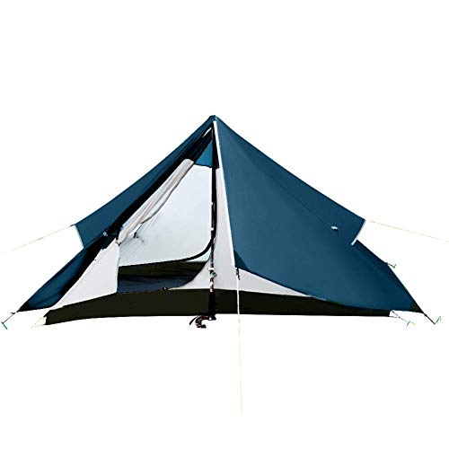 Camping Tent -20D Nylon Fabric, 3000Mm Waterproof Silicone Coating, Top Ventilation Net Design, Lightweight, Easy To Set, Suitable For Outdoor Camping