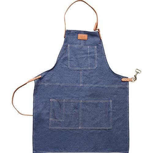 YLCJ Cowboy Wind schorten, leer canvas mouwloos schort, keukenschort, schoonmaken werkkleding voor mannen en vrouwen, A