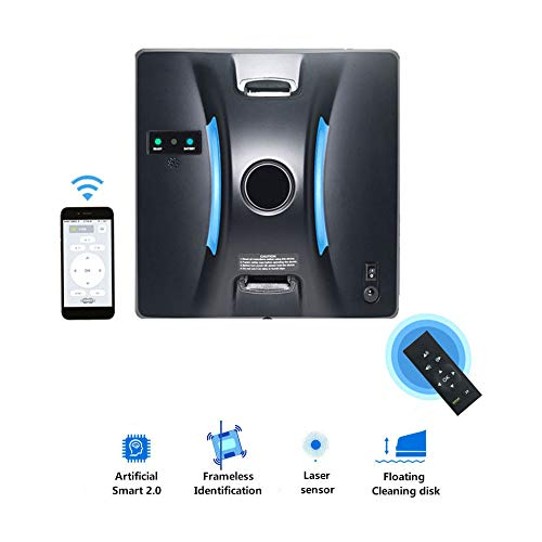 Lowest Price! OMLTER Robot Window Cleaner Smart Glass Cleaning Robot Mobile App and Remote Control O...