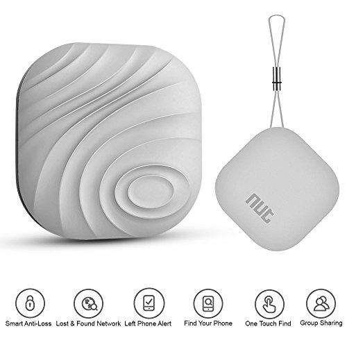 Mini Nut 3 Localizador y rastreador Bluetooth de Llaves, móvil, Cartera o Mascotas, para Android e iOS (Gris)