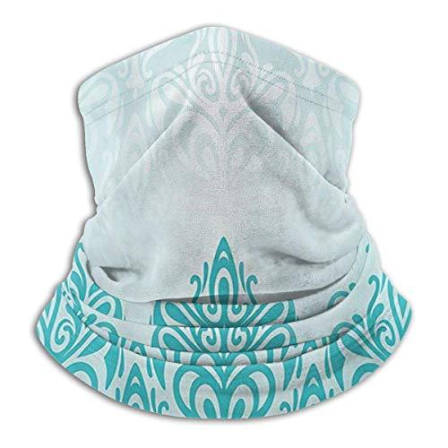 Turquesa Retro Medieval Europeo Degradado Unisex Cuello Calentador Polaina Pasamontañas Máscara de Esquí Invierno Sombreros Sombrero Para Hombres Mujeres