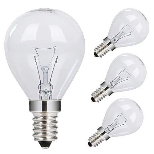 GMY Oven Bulb 40W 230V E14 SES Small Edison Screw Incandescent Golf Ball Oven Light Bulb P45 Oven Lamp Cooker Bulb for Neff Oven Bosch Oven AEG Oven 300℃ Heat Tolerant 4 Pack