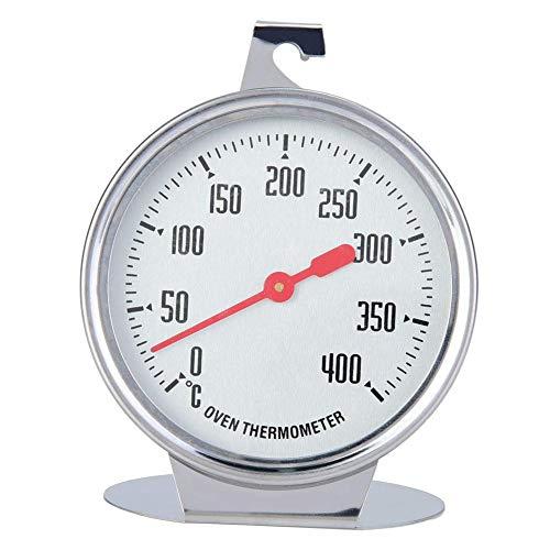 0~400 ℃ Ofenthermometer, Edelstahl-Stand-Up-Backofen-Innenthermometer mit Aufhänger Küchenbackzubehör, 2,8 x 3,5 Zoll