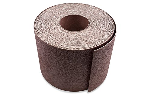 Red Label Abrasives 6 Inch X 50 FT 100 Grit Woodworking Drum Sander Strip Roll, Cut to Length