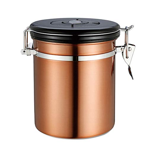 Floridivy RVS Koffie Canister Koffie Container Luchtdichte Opslag Kan pot Roestvrijstaal Tea Canister Caddies pot