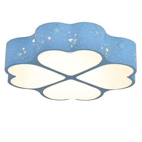 AXWT Chambre d'enfant Creative bleu lampe de plafond, 4 * Amour/Clover Lumières de plafond, acrylique Abat LED Source Chambre Salon Lustre Aisle restaurant Décoration Lampe murale [Classe énergétiqu