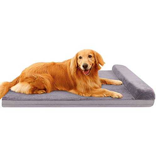 JoicyCo Large Dog Bed Pet Beds Crate Mat Dog Beds for Large Dogs Foam Cushion Anti-Slip with Washable Cover