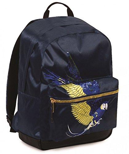 ZAINO INVICTA - RISE - Parrots Blu Patch - tasca porta pc padded - americano 28 LT