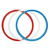 シリコーンシーリングリング ボーナスシーラー付き 3個パック - Instapot シリコーンシールリング交換用 - 色分けされた3色 - お手入れ簡単 5/6/8クォートインスタントポット用アクセサリーに最適 3 Qt