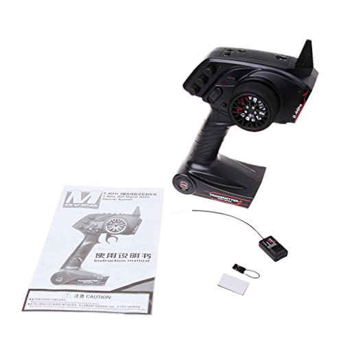 Gjyia 3CH 2,4 GHz afstandsbediening zender met ontvanger voor RC Car Boat Parts Black