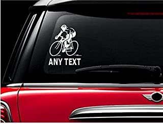 StickerLoaf Brand ANY TEXT CUSTOM PERSONALIZED Bicycle Cyclist Decal Sticker Cycling Cycle Bike Road Trail MTB Mountain Racing Race century metric Touring trek specialized giant fuji cannondale
