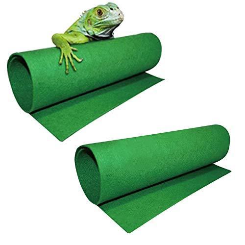 ASOCEA 2 alfombrillas de dragón barbudo para reptiles de lagarto terrario ropa de cama forro de sustrato suministros y accesorios adecuados para serpientes gecko tortuga guana otros pequeños reptiles
