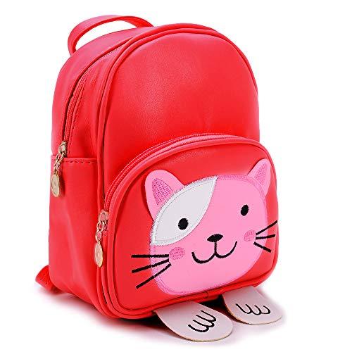 Children Preschool Backpack little girl Bag satchel Cat, Colours:Red