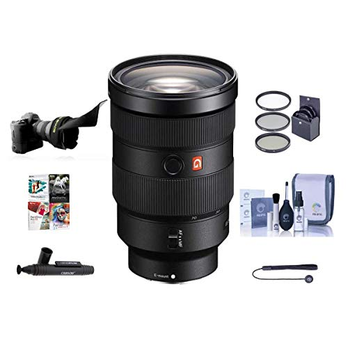 Sony FE 24-70mm f/2.8 GM (G Master) E-Mount Lens - Bundle with 82mm Filter Kit, Flex Lens Shade, Cleaning Kit, Capleash II, Lenspen Lens Cleaner, Software Package