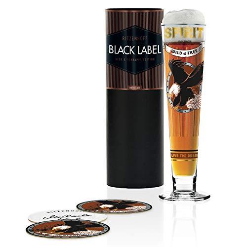 RITZENHOFF 1010248 Black Label Bierglas, Glas, 385 milliliters