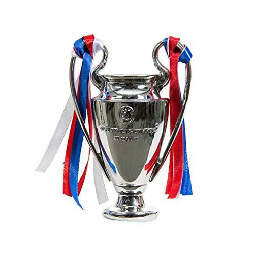 Trofei Champions League d'oro Campione Manchester United Real Madrid Messi C Ronaldo Zidane Miglior Regalo Medaglia Modello (Color : Silver-B, Size : 32 * 23 * 18cm)