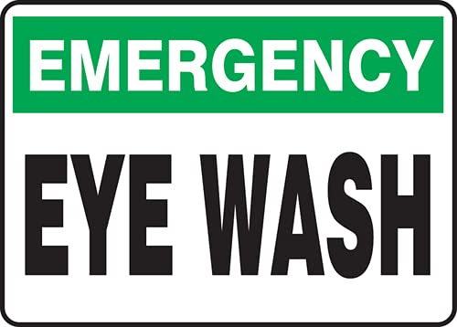 Weekly Large discharge sale update Jendco - Emergency Safety Sign: Eye x 14
