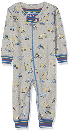 Hatley Organic Cotton Sleepsuit Pyjama, Gris (Crayon Construction 020), 12-18 Mois (Taille Fabricant: 12M-18M) Bébé garçon