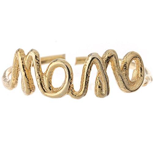 Córdoba Jewels | Anillo en Plata de Ley 925 bañada en Oro. Diseño Mamá
