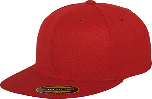 Flexfit Erwachsene Mütze Premium 210 Fitted, rot (red), S/M