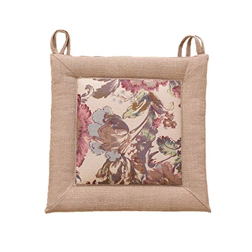 Four Seasons Thick Chair Cushion Cotton Linen Crafts Tatami Cushion Student Dormitory Office Breathable Seat Cushion (Color : 05, Specification : 40x40x4CM)