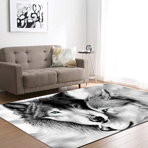 Moquettes tapis et sous-tapis Tapis de tapis de loup européen salon chambre restaurant restaurant tapis de tapis Tapis antidérapant pour sous-sols Carpets Rugs ( Couleur : H , taille : 99*152cm )