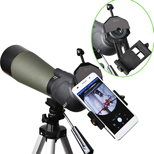 Product Image 6: Gosky Universal Cell Phone Adapter Mount – Compatible Binocular Monocular Spotting Scope Telescope Microscope-Fits almost all Smartphone on the Market -Record The Nature The World