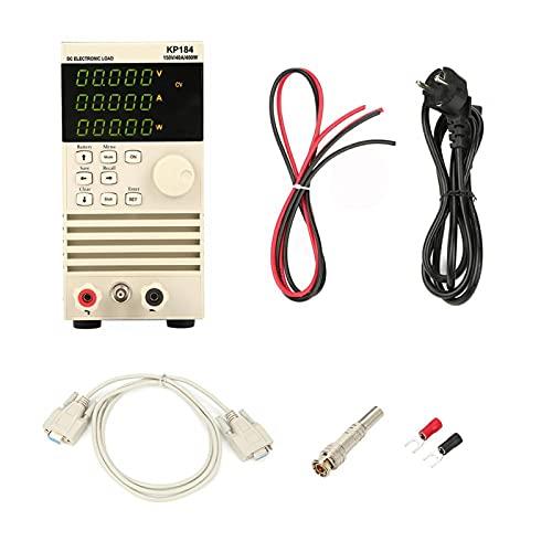 Carga electrónica CC, KP184 Probador de capacidad de batería de carga electrónica CC programable Interfaz de comunicación RS485/232 400W 150V 40A AC110V con manual del usuario(EU plug)