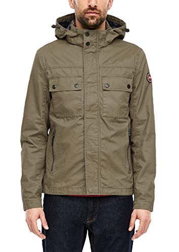 s.Oliver RED LABEL Herren Canvasjacke im Field-Style khaki M
