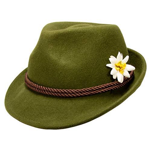 Alpenflüstern Filzhut Trachtenhut Edelweiss grün ADV118