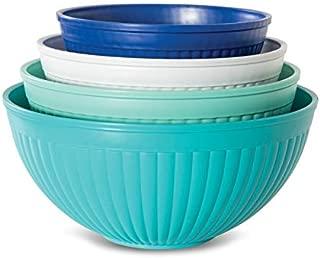 Nordic Ware 69514 Prep & Serve Mixing Bowl Set, 4-pc, Set of 4, Coastal Colors
