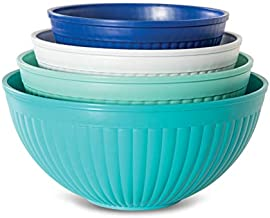 Nordic Ware 69514 Prep & Serve Mixing Bowl Set, 4-pc, Set of 4, Coastal Colors