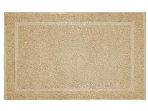REVITEX - Alfombra de Baño Estela Beige - Rizo 100% algodón - Absorbente - 50x70 cm