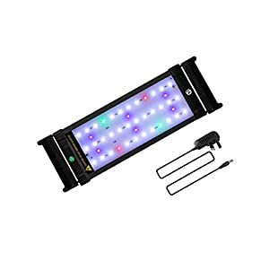 JOYHILL LED Full Spectrum Aquarium Lights,Fish Tank Light with Extendable Brackets,Suitable for Aquatic Reef Coral…