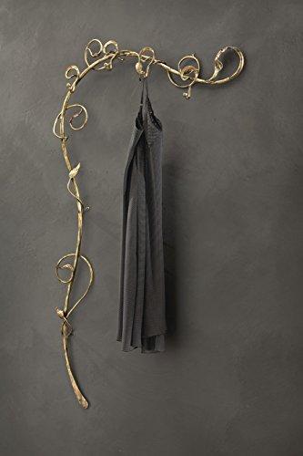 Bellart at/501Perchero artistico, Metal, Oro Antiguo, 160x 100x 12cm, 6Unidad