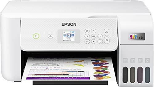 Epson EcoTank ET-2826 | Impresora WiFi A4 Multifunción con Depósito de Tinta Recargable y Pantalla LCD | 3 en 1: Impresión, Copiadora, Escáner | Mobile Printing