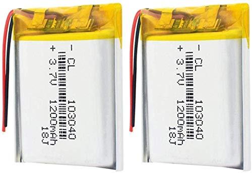 Batería De Iones De Litio De 3,7 V 103040 Polímero De Litio De 1200 Mah para Linterna Led Control Remoto Selfie Stick-2 Piezas
