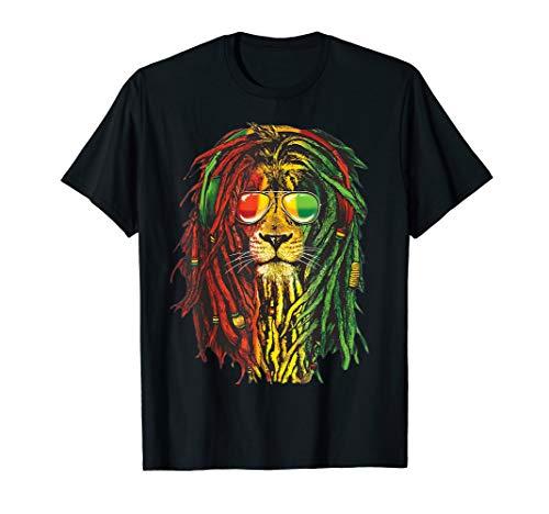 Rasta Lion Sonnenbrille Reggae - Rastafarian Geschenk T-Shirt