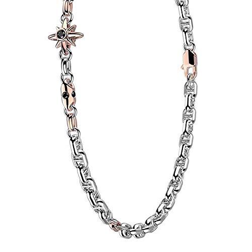 Zancan Collana Uomo in Oro Bianco e Rosa con Diamanti – Eternity Gold – EB901BR50