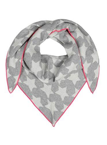 Cashmere Dreams Dreieckstuch mit Kaschmir - Hochwertiger Schal mit Sternen für Damen Jungen und Mädchen - XXL Hals-Tuch und Damenschal - Strick-Waren für Sommer und Winter Zwillingsherz -hgr/pin