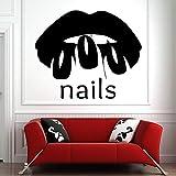 51x42cm 3D calcomanía salón de uñas decoración de uñas mural esmalte de uñas manicura pedicura salón cita inspiradora regalo ilustraciones papel pintado etiqueta de la imagen