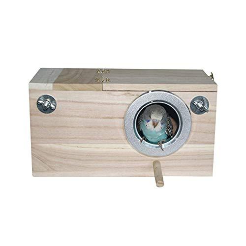 Vogel Nistkasten Aus Holz Vogelhaus Brutkasten Vogelzuchtbox Kleines Vogelnest Mit Durchsichtiges Sichtfenster Für Wellensittich Papageien