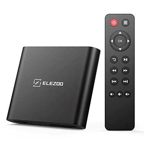 ELEZOO 4k/1080P/HDR/10BIT/H.265 media player for HDD disk , USB drivers, TF/SD cards