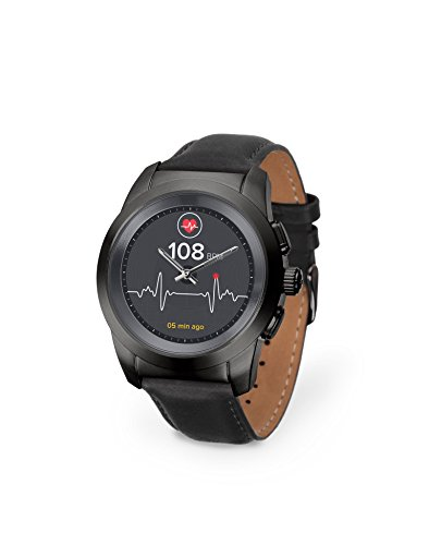 MyKronoz ZeTime Premium 1.22Zoll TFT Schwarz Smartwatch - Smartwatches (3,1 cm (1.22 Zoll), TFT, Touchscreen, 720 h, 90 g, Schwarz)
