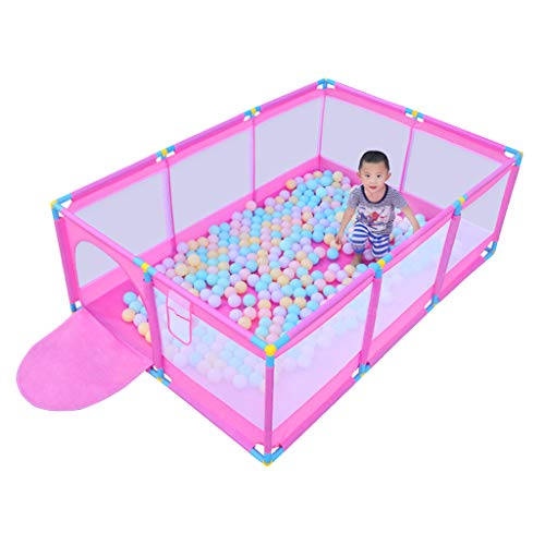 Barrière de bébé Sécurité Bébé Clôture de Protection Domestique Tapis de sécurité intérieur pour Enfants Accueil Jouet de Billard Kid Briser-Résistant Parc d'enfant (Taille: 190x128x66cm)